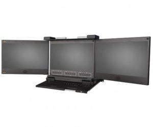DKM triple Ecran HD Double Rail DVI - VGA