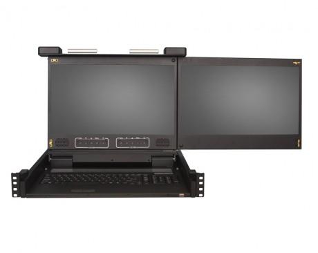 clavier-double-ecran-rackable-KVM 1701 WD2 - 2U 17.3 pouces HD