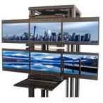 agregation 4 ou 6 LCD avec clavier ecran rackable 19 pouces