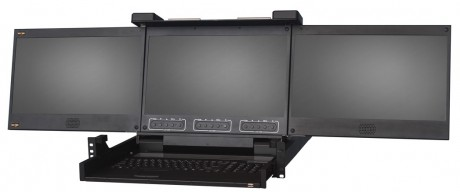 double rail triple LCD HD - KVMD1701 WT3