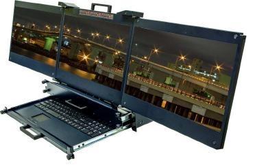 DKM SAIS Triple Ecran HD 2U Double Rail - DKM17 HD T
