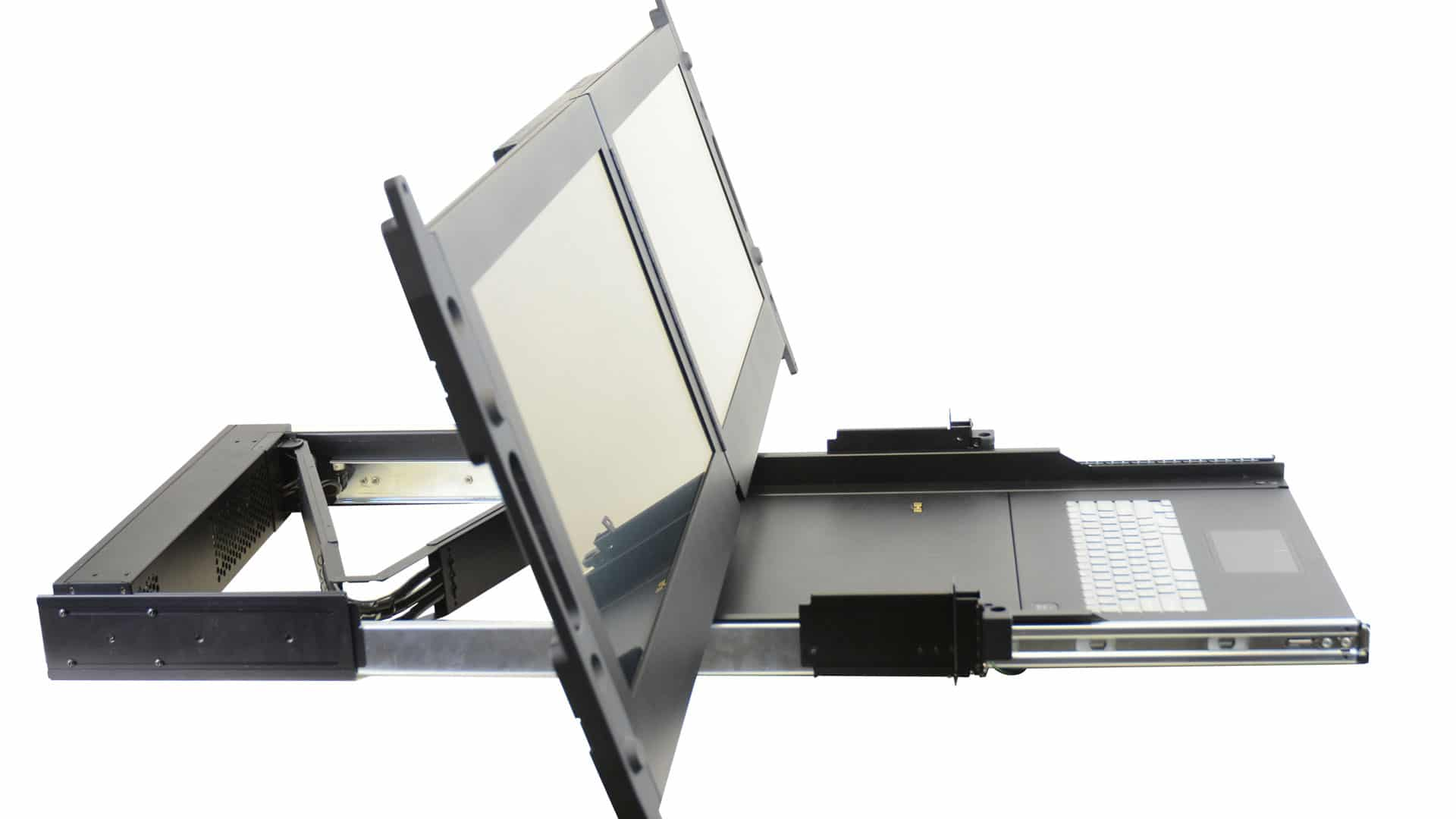 Clavier Ecran Rackable Console SAIS double LCD MIL STD 810