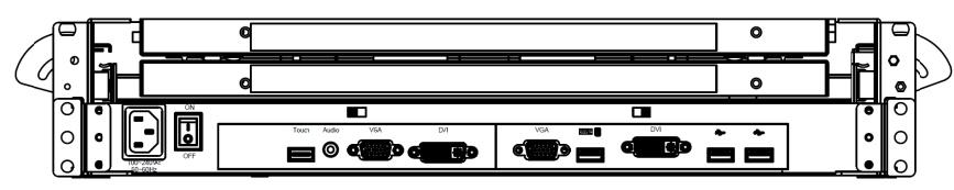 Double Clavier Ecran 24 pouces HD double Rail Symetrique 2