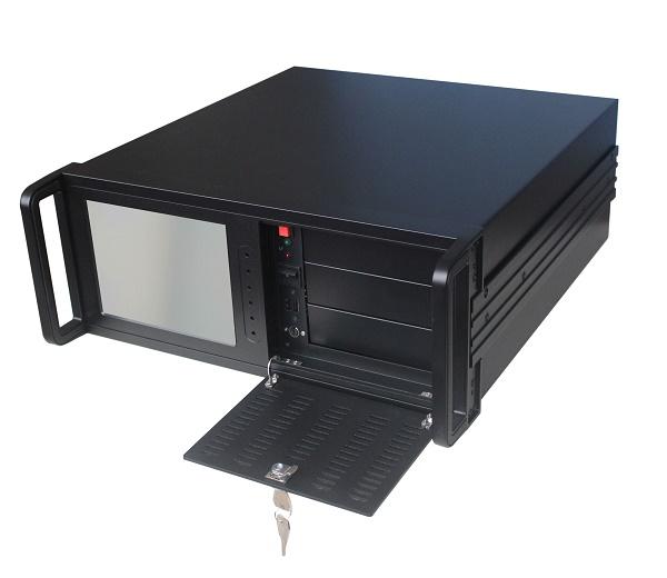 PC rackable 19 pouces 4U avec ecran TFT 8 pouces AWT 1081 B