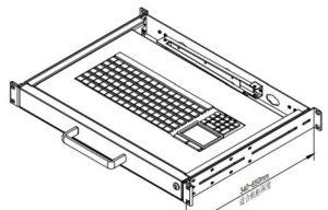 clavier rackable 1U KB101 IP avec touchpad sous le pave numerique